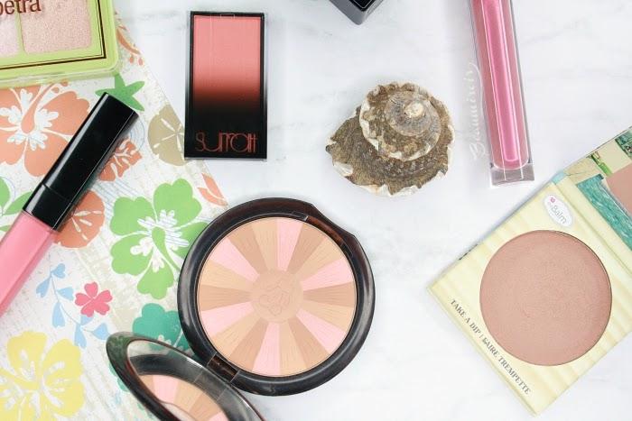 bronzer blush gloss lipstick highlighter