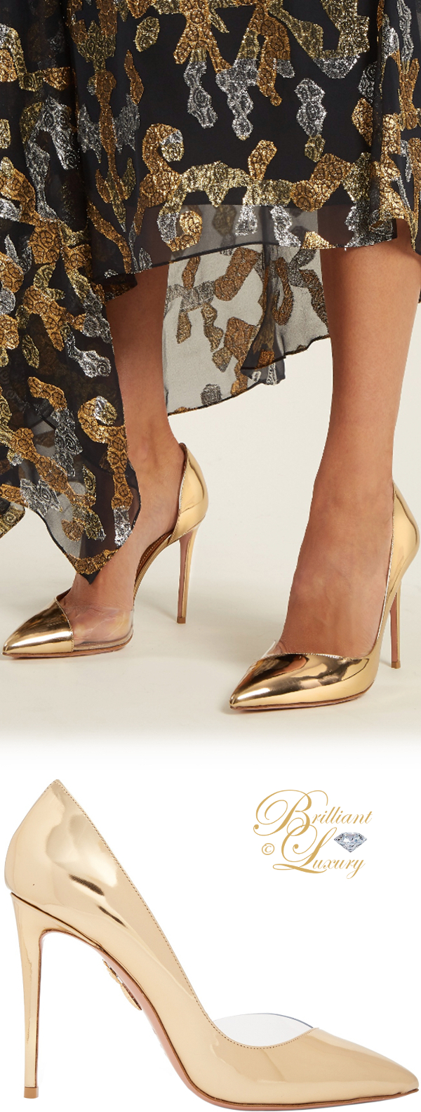 Brilliant Luxury ♦ Aquazzura Eclipse point-toe leather pumps