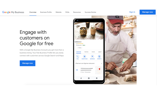 Basic steps to create a Google My Business account