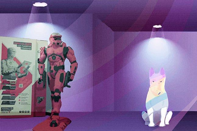 perro arcoíris en Cice