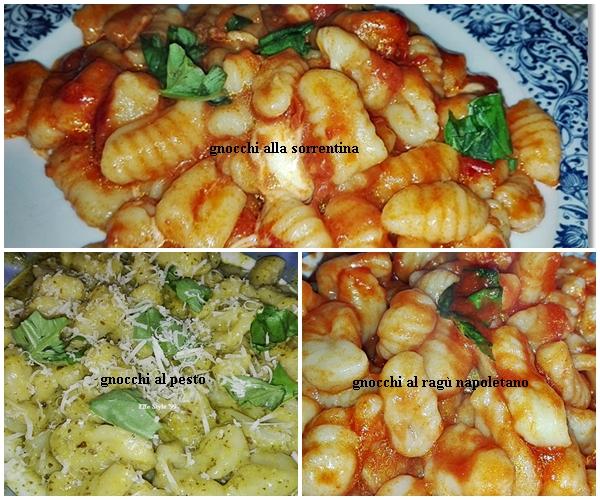 Gnocchi di patate condimenti