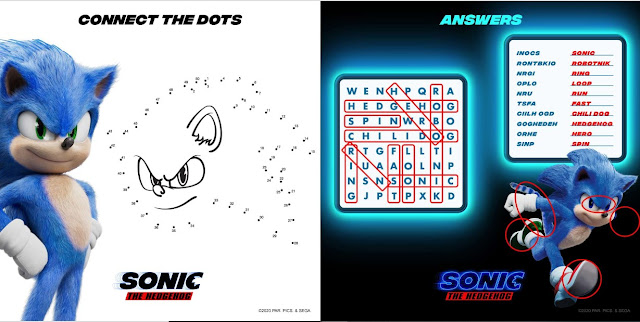 sonic the hedgehog movie activity sheets wordsearch