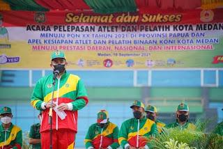 Lepas 89 Atlet ke PON Papua, Bobby Janjikan Bonus Bagi Peraih Prestasi
