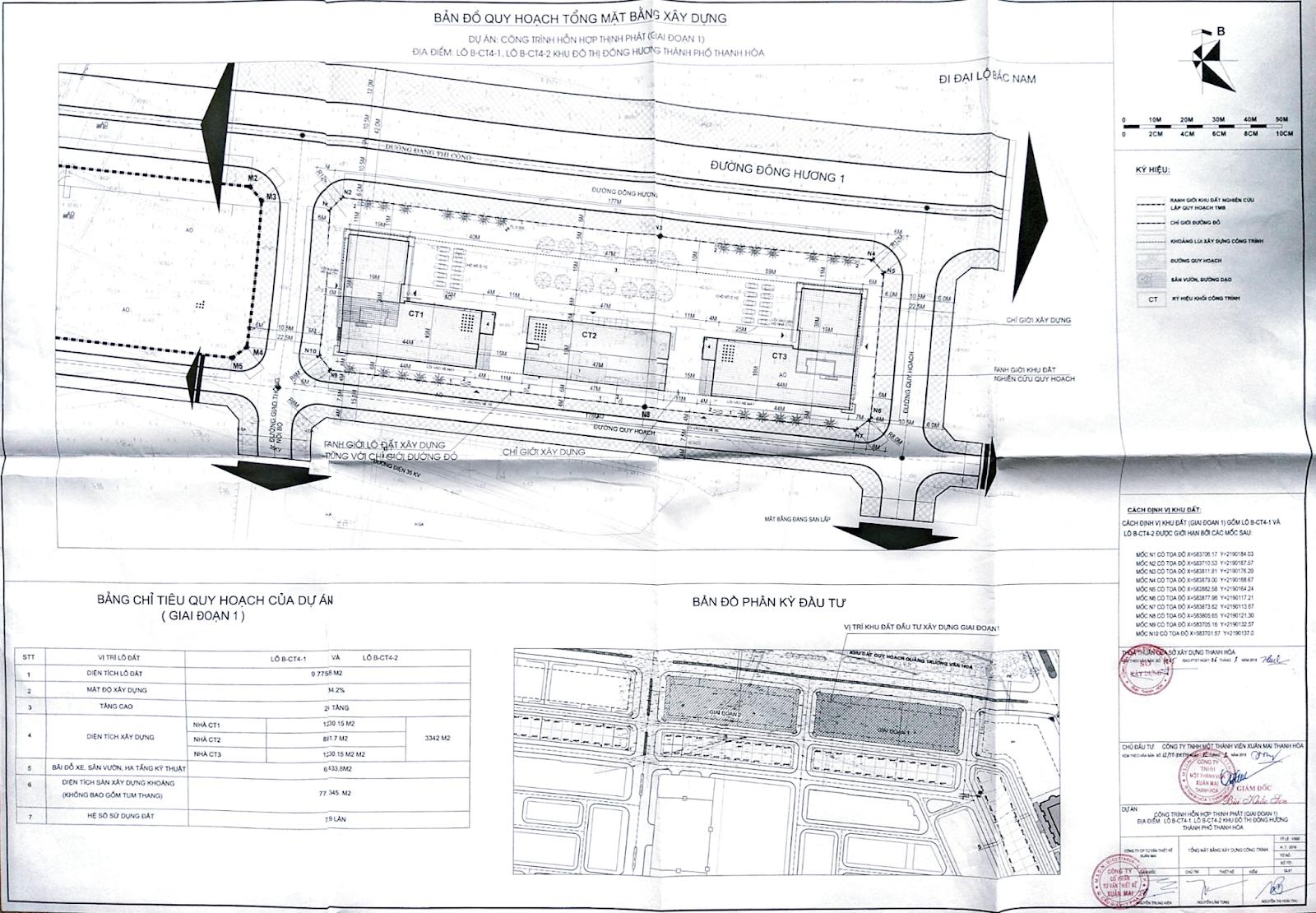 Bản đồ khu đất dự án chung cư Xuân Mai Tower