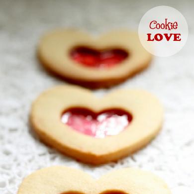 Candy Heart Shortbread Cookies Recipe