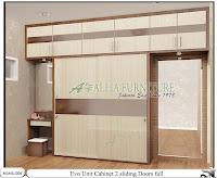 Lemari minimalis full plafon unit cabinet Evo
