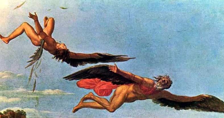 картинки из мифов древней греции дедал и икар седло свое название