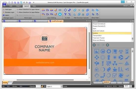 Screenshot EximiousSoft Business Card Designer Pro 3.26 Full Version