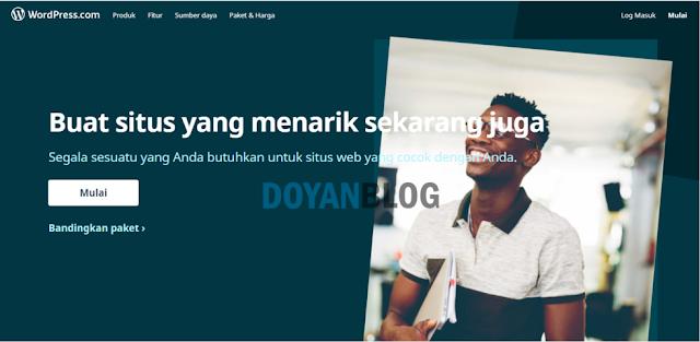 pertama buka situs wordpress.com
