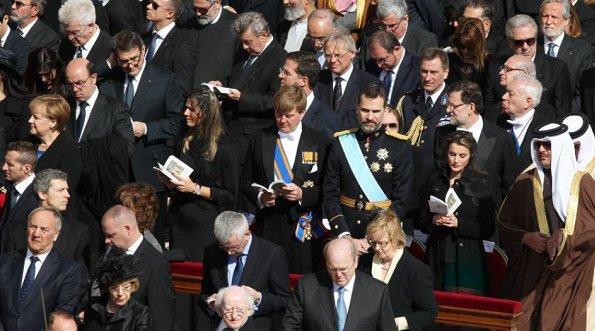 Queen Paola, Prince Felipe, Princess Letizia, Prince Albert, Princess Charlene, Princess Maxima, Grand Duke Henri and Grand Duchess Maria Teresa