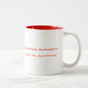 Question Authority Ask Me Anything | Funny Two-Tone Tea Coffee Mug