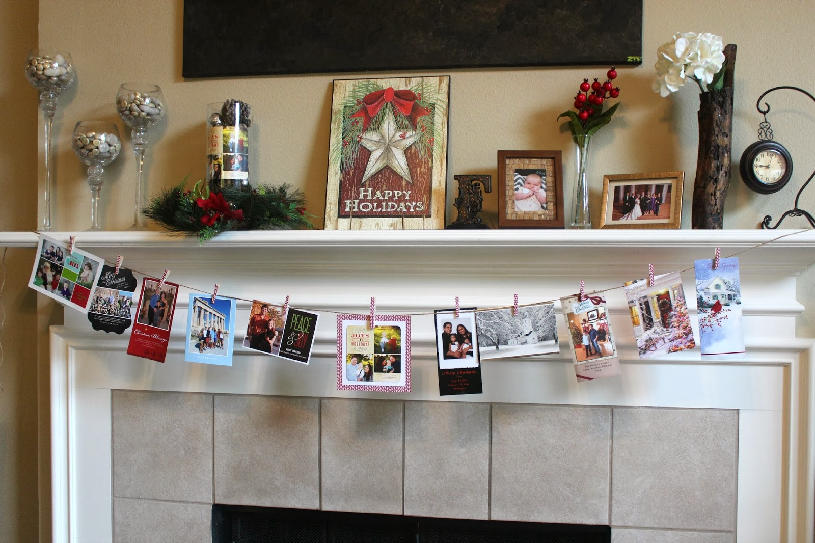 Christmas Card Display.Fun With The Fullwoods Diy Christmas Card Display