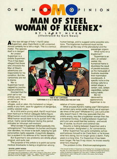 Man Of Steel Woman Of Kleenex Comic