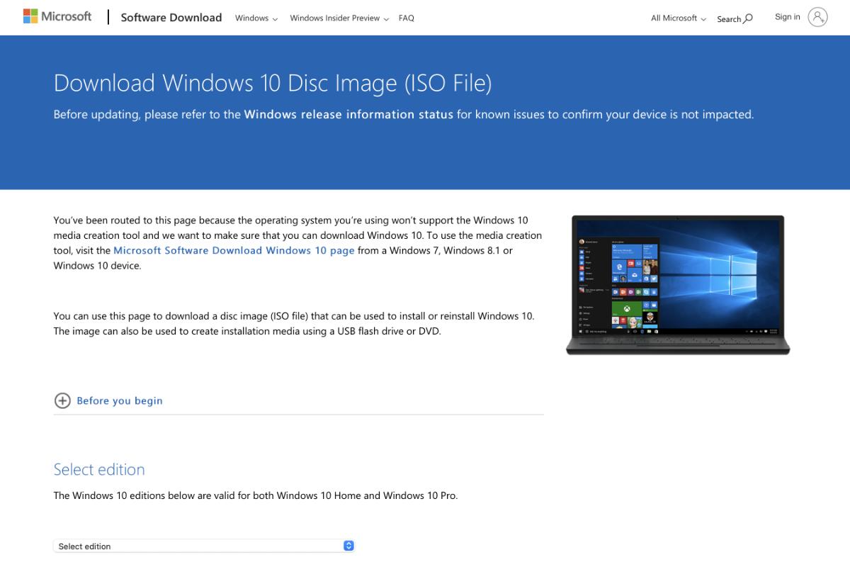 Come scaricare Windows 10 gratis direttamente da Microsoft