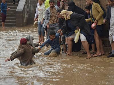 Floods swept through parts of Yemen