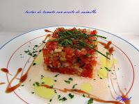 Tartar de tomate con aceite a la vainilla y visita al mercado de Santa Caterina