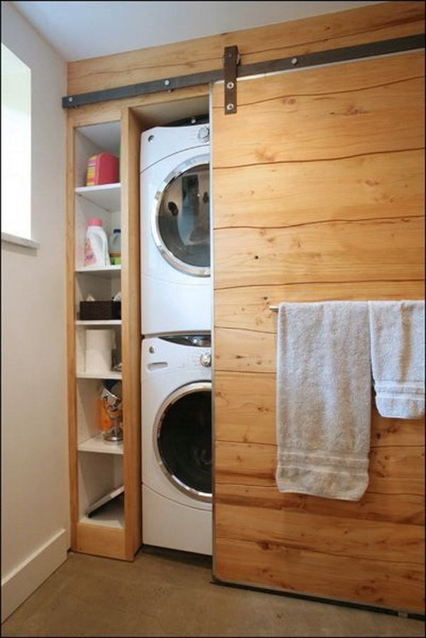 DIY Small Laundry Room Organization Ideas With Top Loading Washer 9