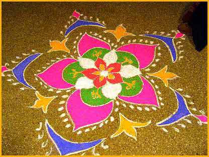 Diwali Rangoli Designs with Colours