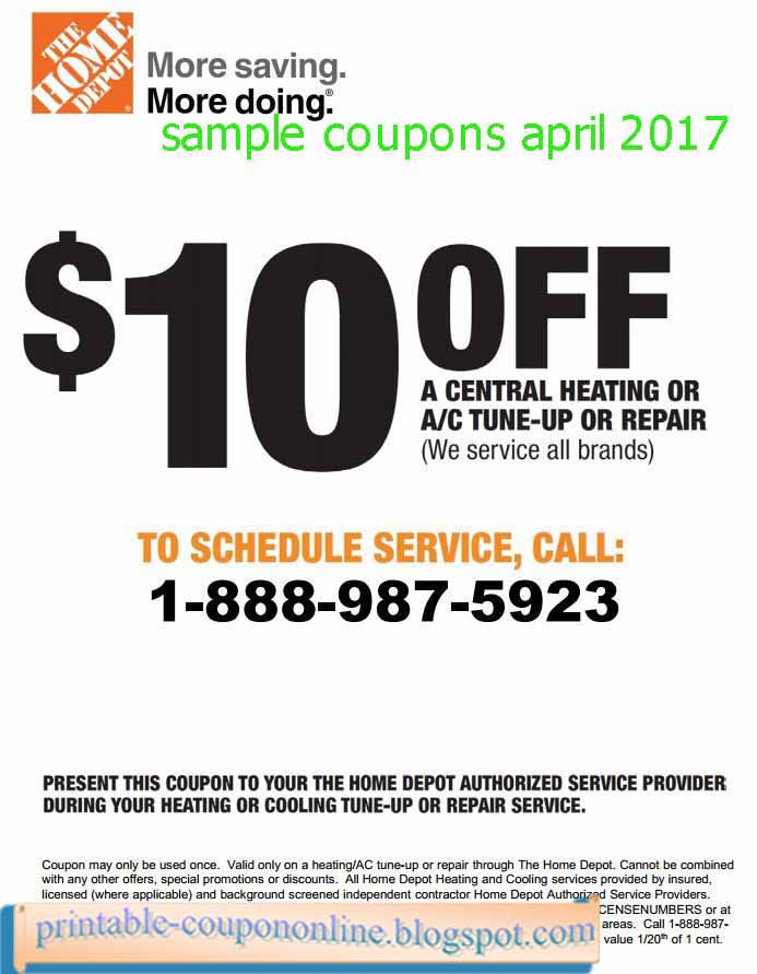 Home depot printable coupons february 2018