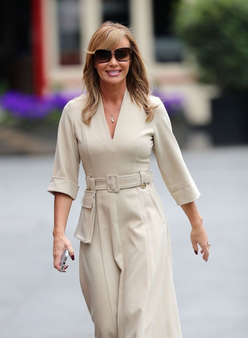 Amanda Holden Arrives at Global Radio in London 27 Apr-2020