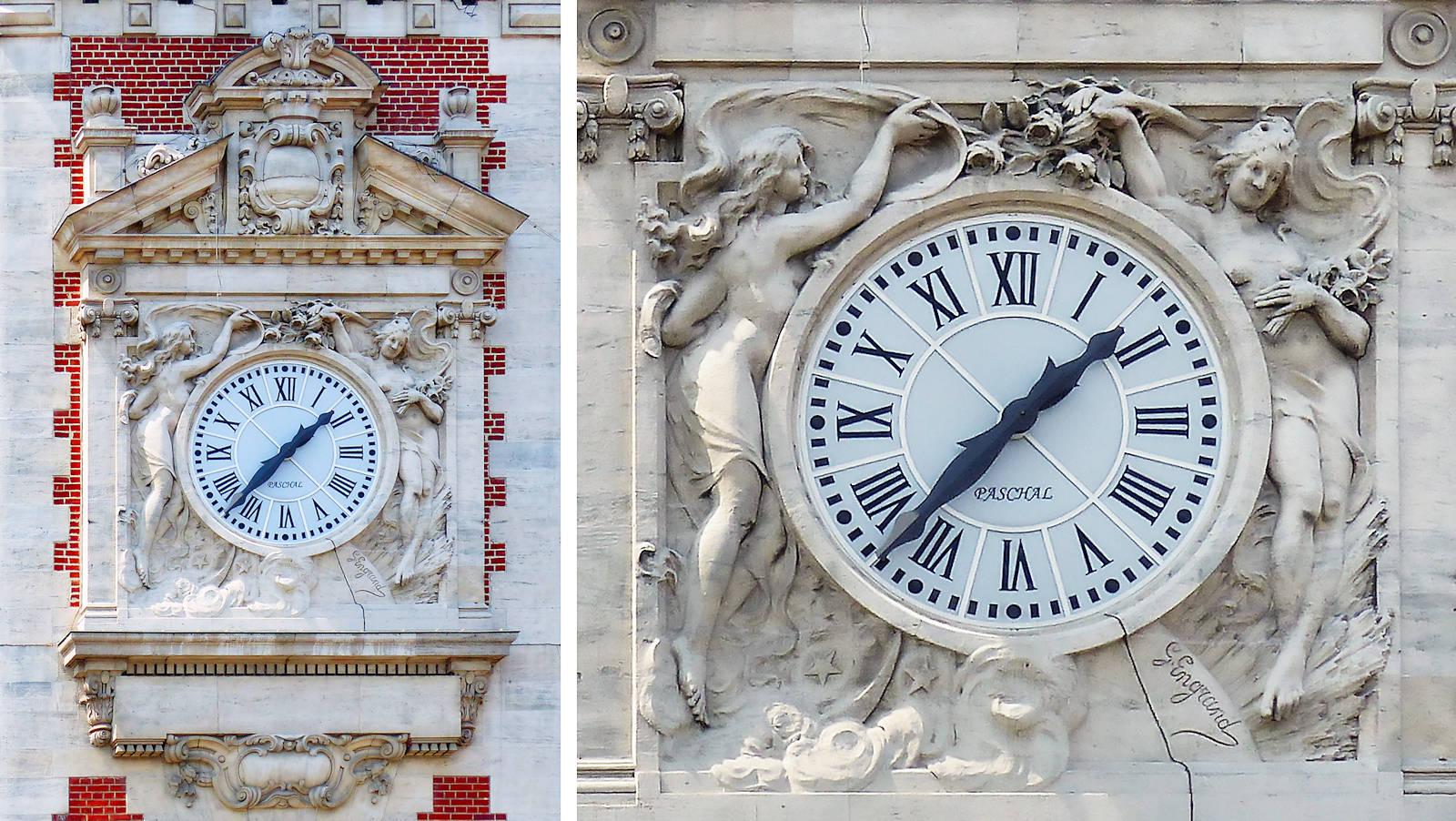 Beffroi de Tourcoing - Bas-relief de l'horloge, par Georges Engrand