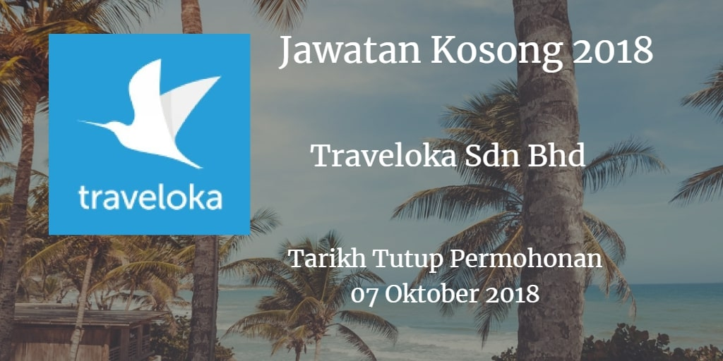 Jawatan Kosong Traveloka Sdn Bhd 07 Oktober 2018