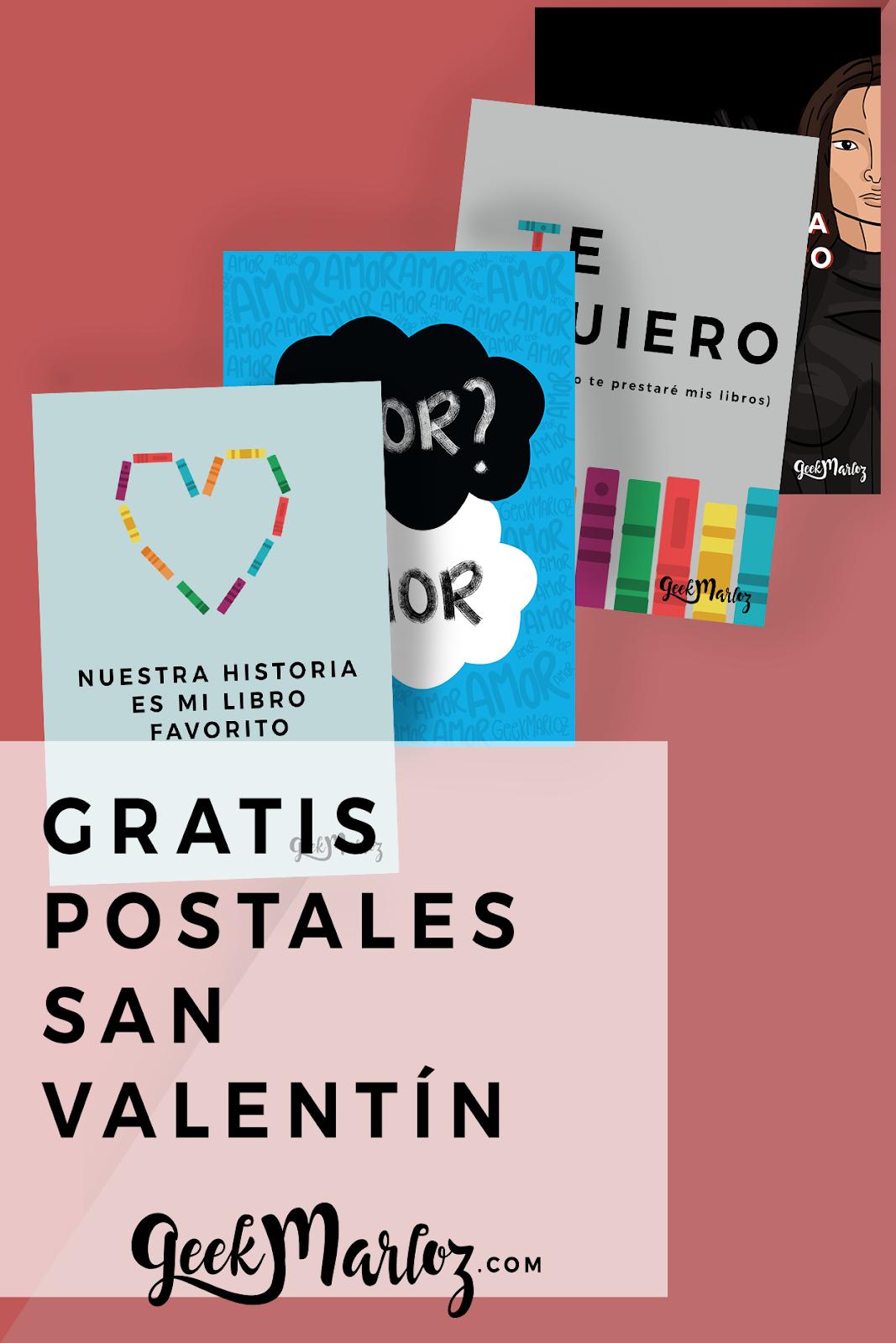 Freebies: Postales y marcapáginas geeks para San Valentín