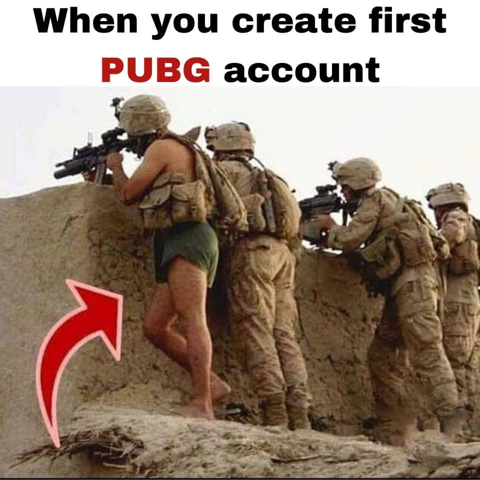 When-you-create-first-PUBG-account-and-seeing-like-a-noob-funny-pubg-memes-make-you-laugh