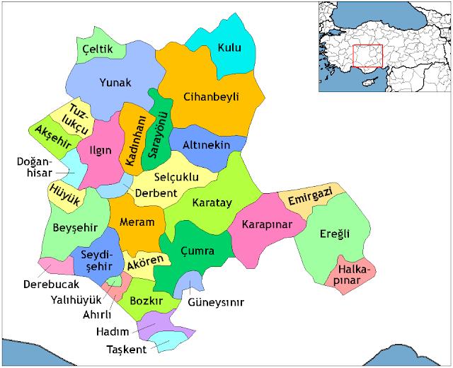 Konya ve İlçelerinin Kuruluş Tarihleri