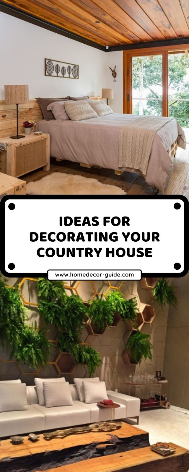 IDEAS FOR DECORATING YOUR COUNTRY HOUSE