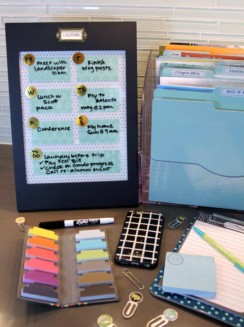 Dry erase calendar and to do list
