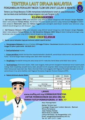 Image result for Permohonan Laskar Muda TLDM Sesi 216/2017 Secara Online