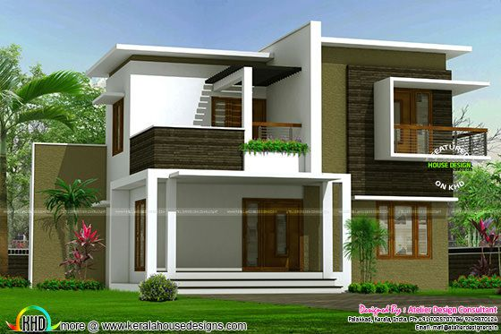 Contemporary box model home architecture kerala home for Architecture maison arabe