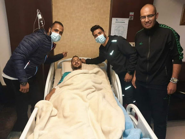 محمود صلاح لاعب اسوان يجري عملية الرباط الصليبي