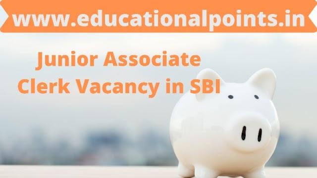 Latest Job Sarkari 5237 posts of Junior Associate Clerk Vacancy in SBI