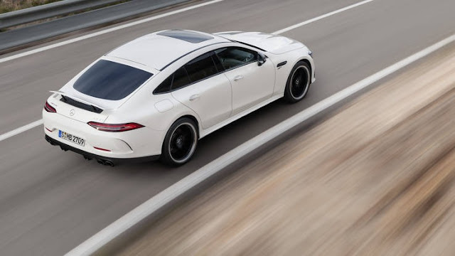 New Mercedes-AMG GT 2019 4Door Coupe Test Drive back view