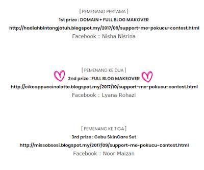 rezeki blog , menang contest , full makeover blog , tutorial menang contest , tips menang contest , giveaway , blog cantik  , blog simple , template baru