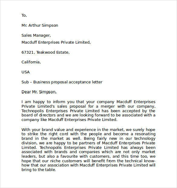 formal business letter template