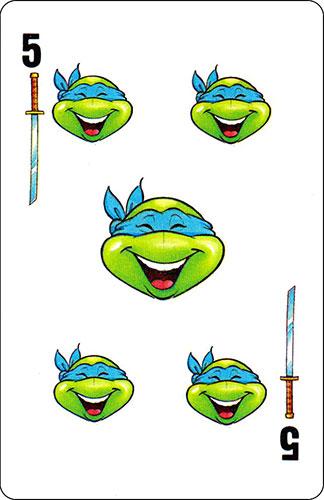 Baraja infantil Las Tortugas Ninja Fournier Carta Leonardo 5