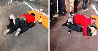 Άντρας εκμεταλλεύεται μεθυσμένη γυναίκα που έχει πέσει αναίσθητη στον δρόμο (Βίντεο)