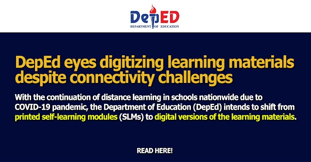 DepEd eyes digitizing learning materials despite connectivity challenges