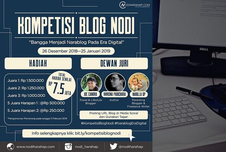 Lomba blog nodi