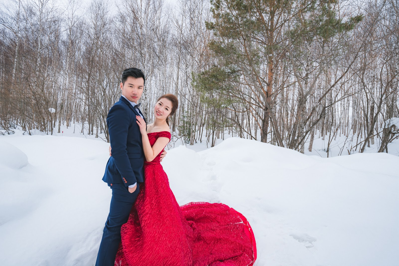 [北海道雪國婚紗] 日本海外婚紗 世界最美的北海道雪景婚紗 台北海外婚紗推薦 瑪朵婚紗