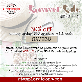 STAMPlorations August Sale!