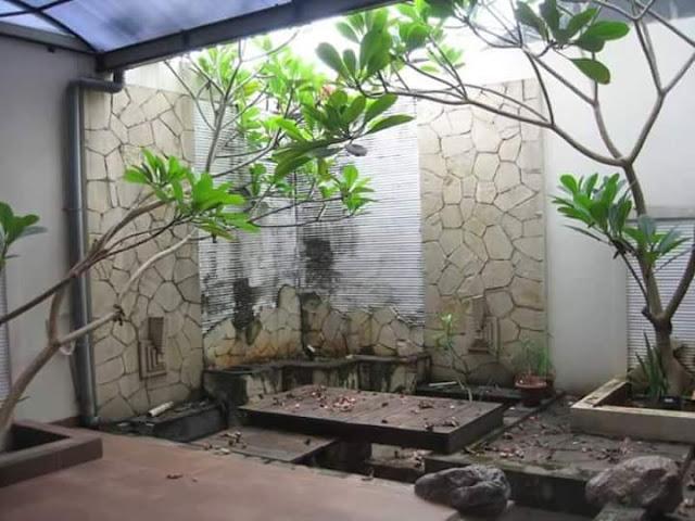 Taman Rumah Minimalis di sudut rumah
