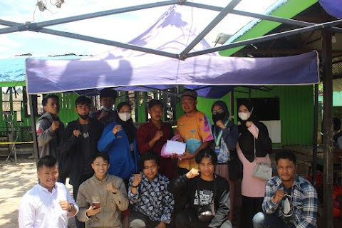 PMII Kutim Salurkan Bantuan Hasil Galang Dana ke Korban Kebakaran