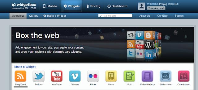 widgetbox homepage