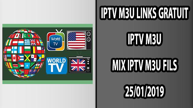 IPTV M3U MIX IPTV M3U FILS 25/01/2019