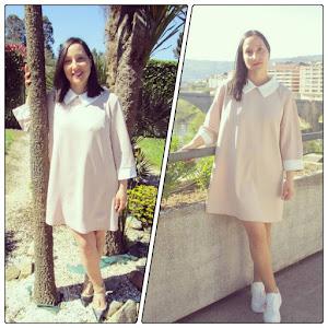 Dos outfits con un vestido