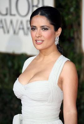 Hot White Dress  Salma Hayek 2019 Golden Globes